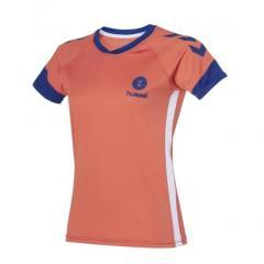 maillot Campaign  Junior Lady corail/bleu
