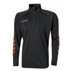 Sweat Demi Zip Core noir/orange