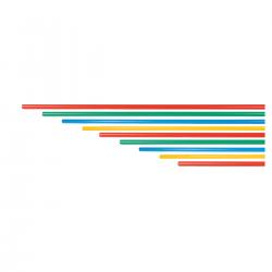 multisports jalons  PVC pointe acier / piquet de slalom