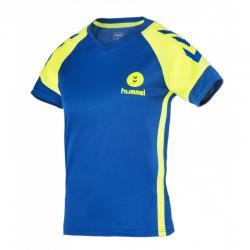 maillot Campaign  Junior bleu/lime