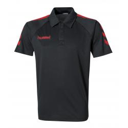 Polo Core Polyester noir/rouge