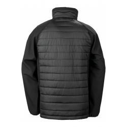 Compass padded softshell Jacket noir/gris SR